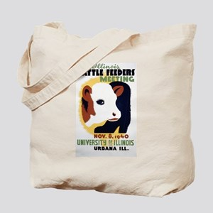 Cattle Meeting IL Vintage WPA Art Tote Bag
