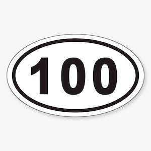 100 Euro Oval Sticker