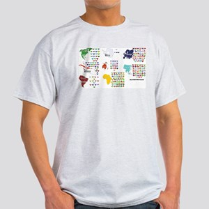 All Countries flags Light T-Shirt