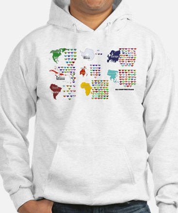 All Countries flags Jumper Hoody