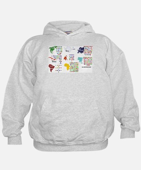 All Countries flags Hoodie