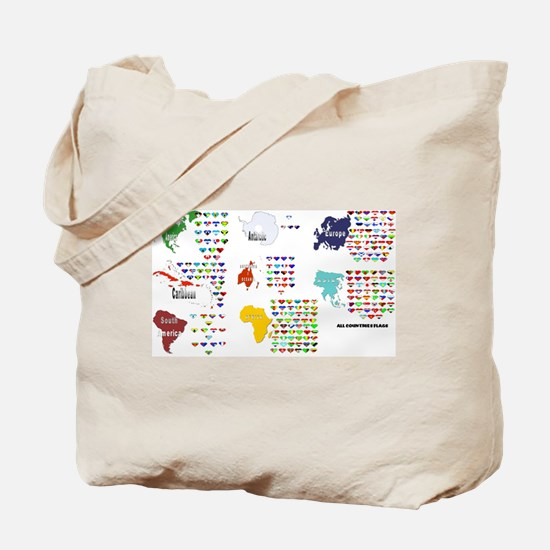 All Countries flags Tote Bag