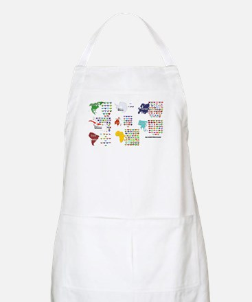 All Countries flags BBQ Apron