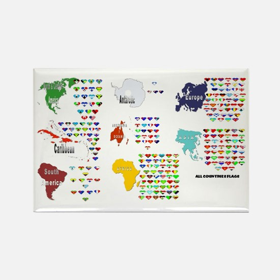 All Countries flags Rectangle Magnet