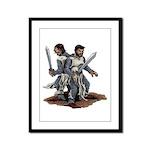 Templar Knights Framed Panel Print
