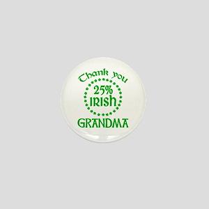 25% Irish - Grandma Mini Button