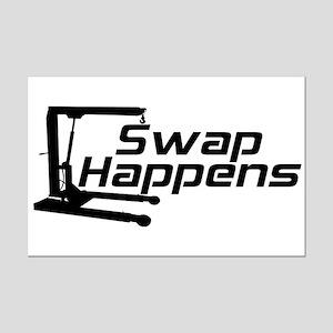 Swap Happens Mini Poster Print