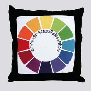 True Colors (US) Throw Pillow