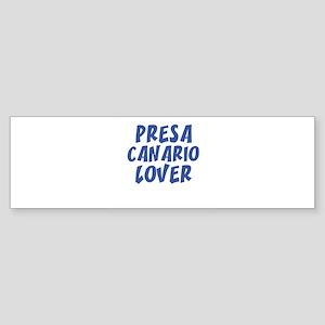 PRESA CANARIO LOVER Bumper Sticker