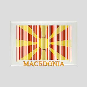 Barcode Macedonia Flag Rectangle Magnet