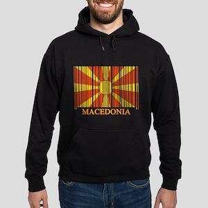 Barcode Macedonia Flag Hoodie (dark)