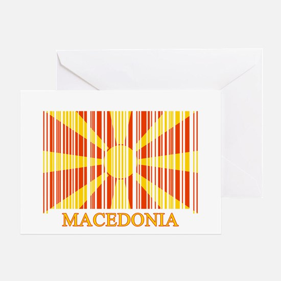 Barcode Macedonia Flag Greeting Card