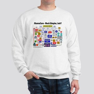 ObamaCare Simplified Flow Chart Sweatshirt