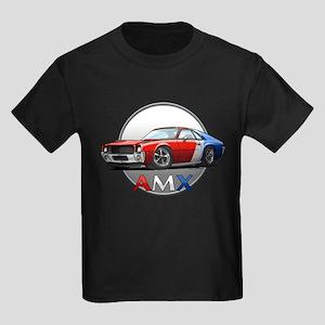 Red, White & Blue racing AMX Kids Dark T-Shirt