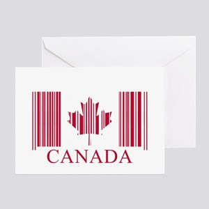 Barcode Canada Flag Greeting Card