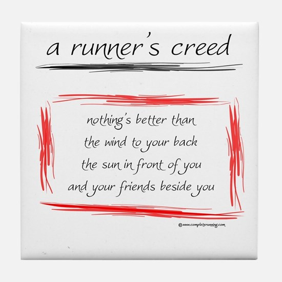 A Runner's Creed Tile Coaster