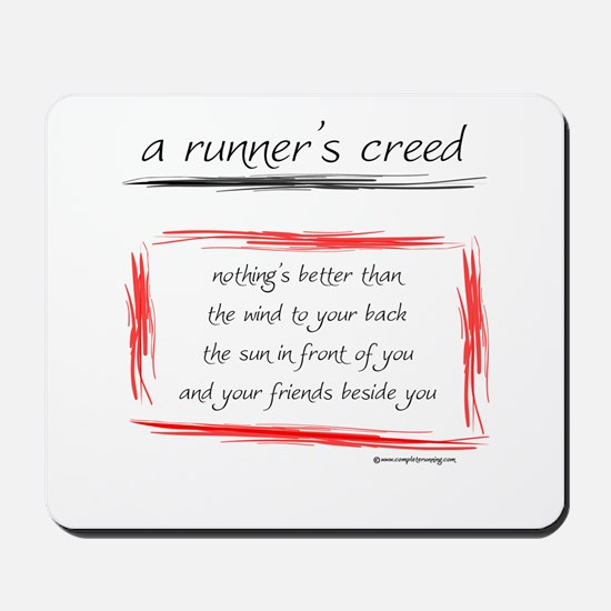 A Runner's Creed Mousepad