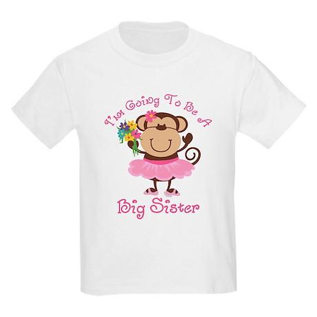 Monkey Future Big Sister Kids Light T-Shirt