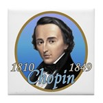 Frederic Chopin Tile Coaster