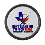 I'm From Texas Large Wall Clock