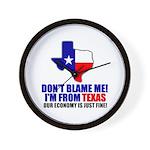 I'm From Texas Wall Clock