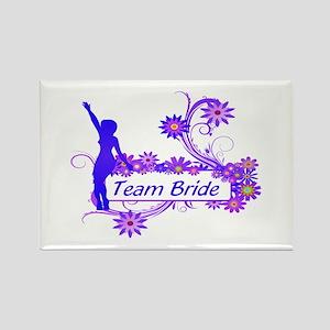 Team Bride (p) Rectangle Magnet