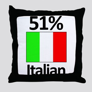 51% Italian Throw Pillow
