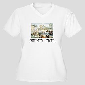 Country Fair Women's Plus Size V-Neck T-Shirt