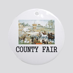 Country Fair Round Ornament