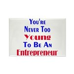 Never Too Young Rectangle Magnet (100 pack)
