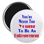 """Never Too Young 2.25"""" Magnet (100 pack)"""