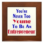 Never Too Young Framed Tile