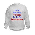 Never Too Young Kids Sweatshirt