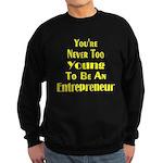 Never Too Young Sweatshirt (dark)