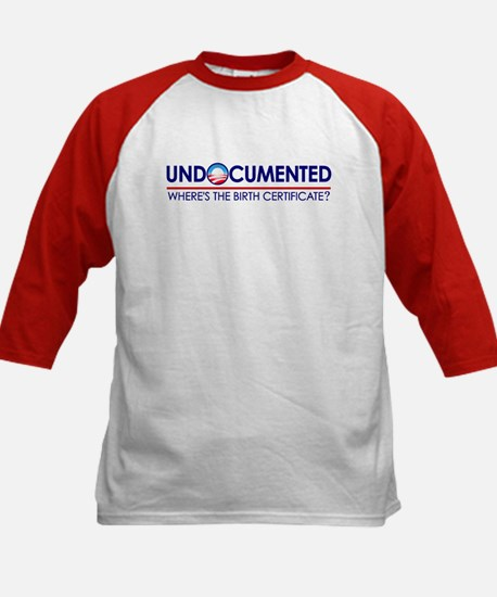 Undocumented Obama (Birther) Kids Baseball Jersey