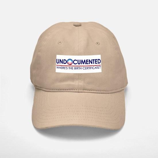 Undocumented Obama (Birther) Baseball Baseball Cap