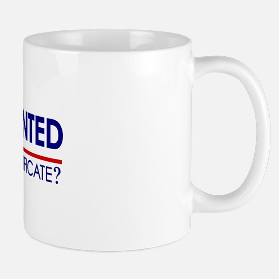 Undocumented Obama (Birther) Mug
