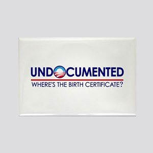 Undocumented Obama (Birther) Rectangle Magnet