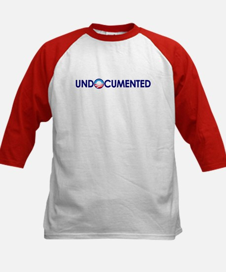 Undocumented (Anti Obama) Kids Baseball Jersey