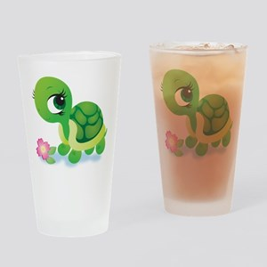 Toshi the Turtle Drinking Glass