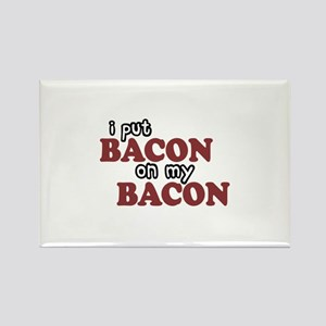 Bacon on Bacon Rectangle Magnet