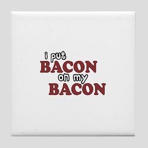 Bacon on Bacon Tile Coaster