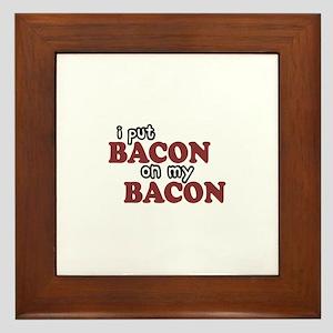 Bacon on Bacon Framed Tile