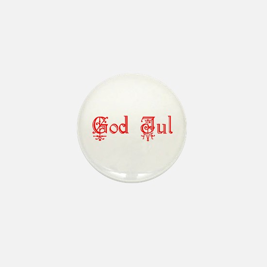 God Jul Mini Button