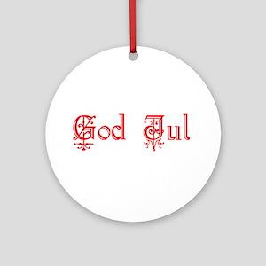 God Jul Ornament (Round)