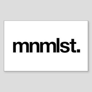 mnmlst Rectangle Sticker