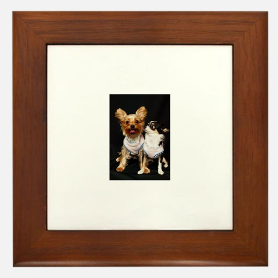 Yorkshire terrier and Chihuah Framed Tile