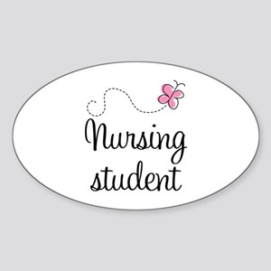 Nursing School Student Oval Sticker