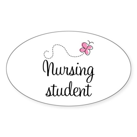 Nursing School Student Oval Sticker