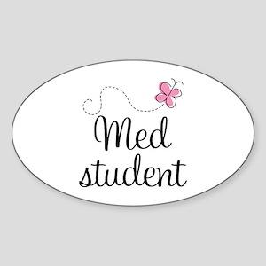 Med School Student Oval Sticker